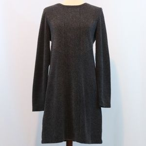 Lou & Charcoal Grey Ribbed Knit Sweater Dress